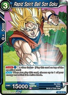Dragon Ball Super TCG - Rapid Spirit Ball Son Goku - Series 1 Starter The Awakening - (Series 1 Starter: The Awakening) - SD1-04