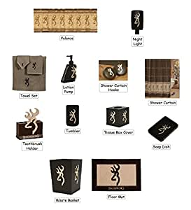 Browning buckmark 25 piece bathroom decor for Bathroom decor on amazon