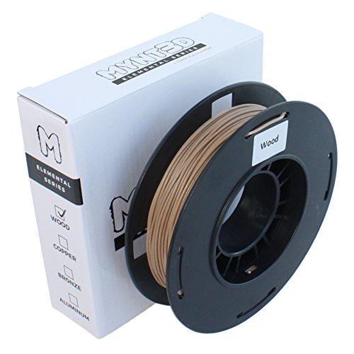 MYNT3D Elemental Wood PLA Filament for 3D Pens and 3D Printers, 1.75mm, 200g