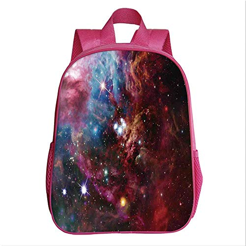 (Space Decorations Backpack Bookbag,Space Nebula with Star Cluster in the Cosmos Universe Galaxy Solar Celestial Zone for Kindergarten Child,9.4''Lx4.7''Wx11.8''H)