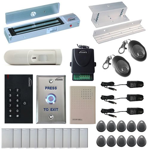 Receiver Software Station (Visionis FPC-5341 One Door Access Control Inswinging Door 600lbs Maglock with VIS-3002 Indoor use only Keypad/Reader Standalone no software em card compatible 500 users Wireless Receiver with PIR Kit)