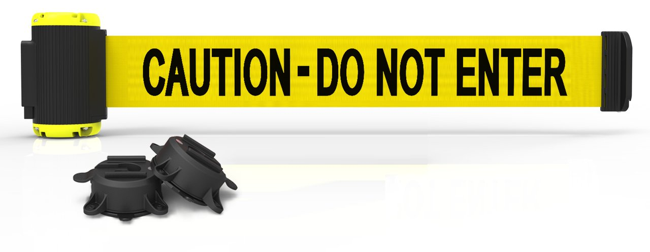 7' Magnetic Wall Mount Barrier, Caution - Do Not Enter MH7003