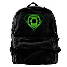 VCARETF Canvas Backpacks Green Lantern Canvas Backpack Travel Rucksack Backpack Daypack Knapsack Laptop Shoulder Bag