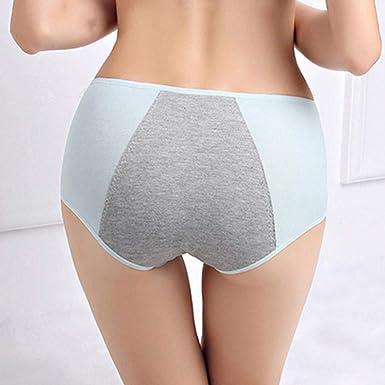 Ropa Interior de Mujer algodón Anti-Fuga Lateral Chica Menstrual Pantalones cómodos@Gris_Código Libre [90-130 kg]: Amazon.es: Ropa y accesorios