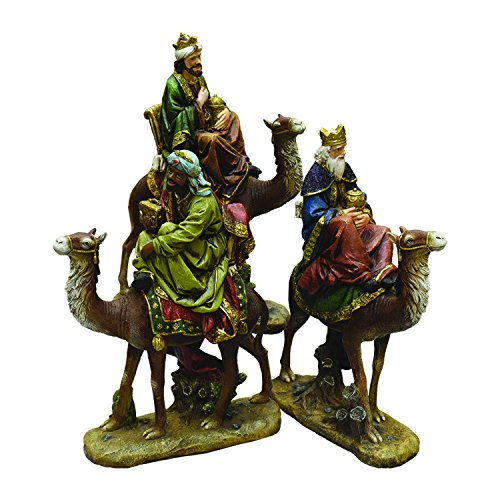 Northlight 3-Piece Religious Three Kings on Animals Christmas Nativity Table Top Figurines 18'' by Northlight