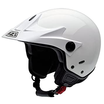 NZI Trials III Casco de Moto, Blanco, 60-61 (XL)