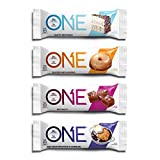 quest bar flavors - ONE Protein Bar, 4 Flavor Variety Pack, Includes Birthday Cake, Maple Glazed Doughnut, Blueberry Cobbler, Salted Caramel, 20g Protein, 1g Sugar, 12-Pack (packaging may vary)