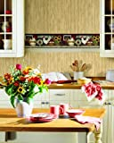 York Wallcoverings CB5538BD Hen And Rooster Farm Wallpaper Border - Ultra Removable