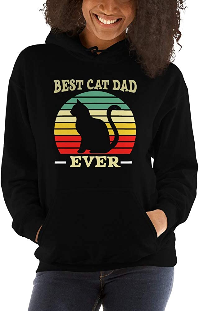 Best Cat Dad Ever Funny Cat Daddy Father Day Vintage Unisex Hoodie