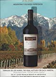 **Print Ad** For Terrazas Reserva Malbec Wine 2009 Argentina's Elevated Expression