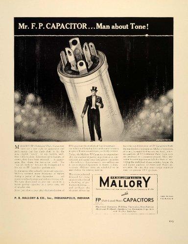 Smith Capacitor (1939 Ad P.R. Mallory FP Capacitors Artist Edward Smith - Original Print Ad)