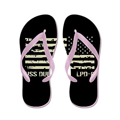 CafePress USS Dubuque - Flip Flops, Funny Thong Sandals, Beach Sandals Pink
