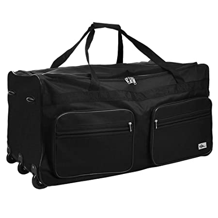 Travel Duffel Bag Size Colour Choice 160L Black Wheeled Luggage Gym Sport  Large Lightweight Telescopic Handle  Amazon.co.uk  Kitchen   Home d6b30c26d5053