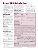 img - for Microsoft Access 2010 Introduction Quick Reference Guide (Cheat Sheet of Instructions, Tips & Shortcuts - Laminated Card) book / textbook / text book