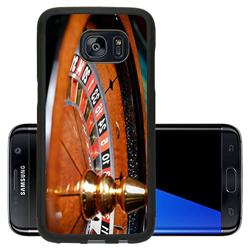 Liili Premium Samsung Galaxy S7 Edge Aluminum Backplate Bumper Snap Case Close up of roulette at the casino Symbol of addiction to the gambling IMAGE ID 17822477