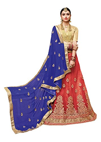 PCC Indian Women Designer Wedding Red Lehenga Choli Fabz-2387