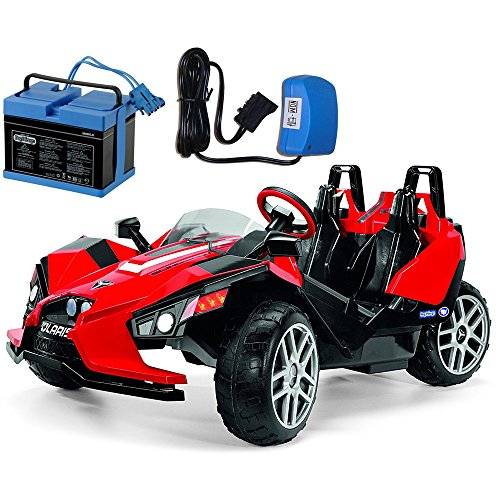 Peg Perego Polaris Slingshot Ride On with Spare 12 Volt Battery and Charger
