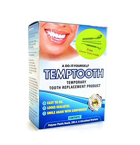 Temptooth #1 Seller Trusted Patented Temporary Tooth Replacement Product - with FREE dental tools ()