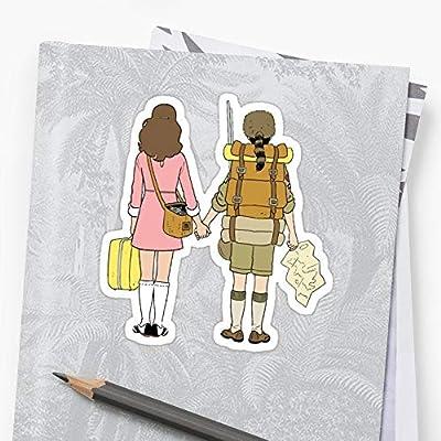 MrMint Moonrise Kingdom - Suzy & Sam Stickers (3 Pcs/Pack) 1372430664668: Kitchen & Dining