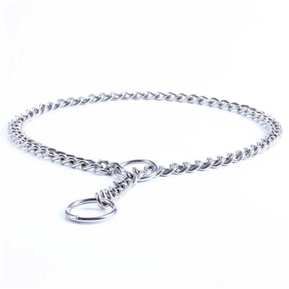 3.0mmX55cm(22\ JWPC Stainless Steel P Chock Metal Chain Training Dog Pet Collars Necklace Walking Training Pet Supplies for Small Medium Large Dogs,69cm