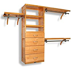 16in. Deep Deluxe Organizer - 4 Drawers (6 & 10in Deep)-Honey Maple Finish