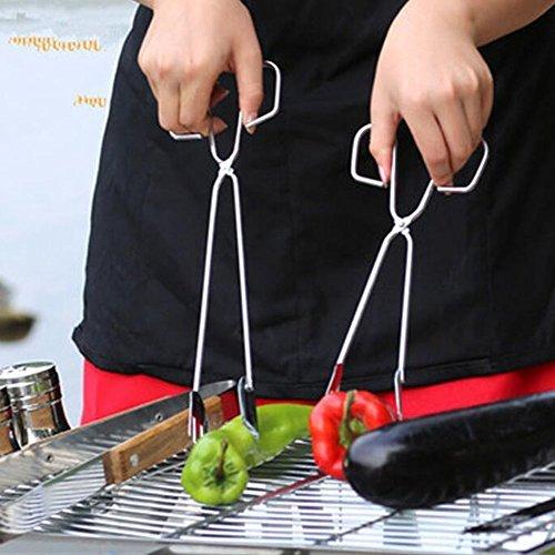 WOBATOY 12-inch Food Baking BBQ Scissor Tong