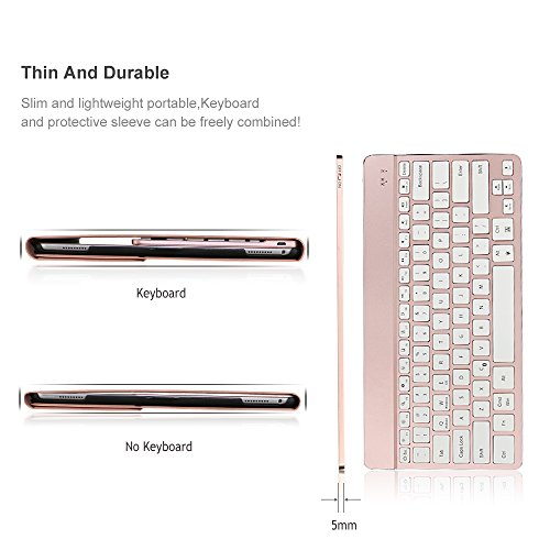iPad Pro 12.9 Case with Keyboard, iEGrow F16S+ 7 Color Backlit Keyboard + Smart Folio PU Leather Case for iPad Pro 12.9 Inch 2015 and 2017 Released Model A1584/A1652