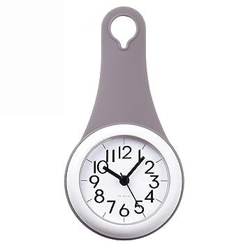 GUAZ Wanduhr Badezimmer Uhr Mit Sucker Art Moderne Einfache Wanduhr Stille  Nicht Tickende Uhr Home Decor