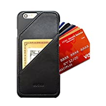 iPhone 6 Plus - Slim Card Wallet Case Holder - Up to 8 Cards and Cash - Quickdraw - HUSKK - Q-6P-BPL-P - Black