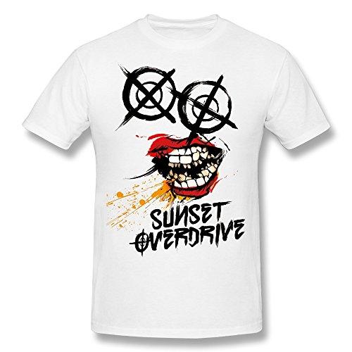 Men's Sunset Overdrive Chemical Smile Logo T-shirt White