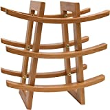 undercounter wine rack - Small Wine Rack – EcoTrueBamboo - Wine Storage for 9 Bottles – Perfect for Vino Bars and Cellars - Countertop and Apartment Furniture, Urban living – Give as Wedding Gift! Fancy Moso Bamboo Material