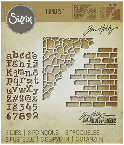 Sizzix Ellison Mixed Media #3 Thinlits Die Set by Tim Holtz (3 Pack) ()
