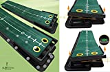 4.25 Inches - Infinity Swivel - Golf Putting Mat, Hight-Tech Carpet with Track Visibility & Adjustable Angle