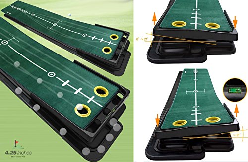 4.25 Inches – Infinity Swivel – Golf Putting Mat, Hight-Tech Carpet with Track Visibility & Adjustable Angle