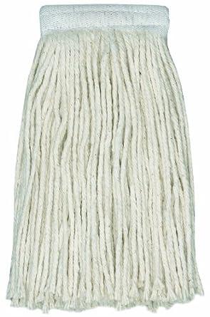 "Wilen A401024, Stinger Cotton 4-Ply Cut-End Mop, 24-Ounce, 5"" Mesh Band (Case of 12)"