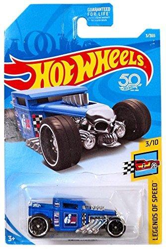 Hot Wheels 2018 50th Anniversary Legends of Speed Bone Shaker 3/365, Blue