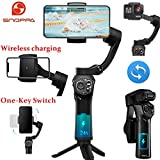 SNOPPA Atom Foldable Pocket-Sized 3 Axis Smartphone Gimbal Stabilizer for GoPro Hero 4 5 6 Smartphones, Wireless Charging, Built-in Microphone Socket, 24 Hours Battery Life.