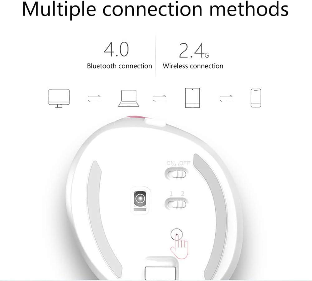 LHR Souris Verticale sans Fil, Souris Droite sans Fil Bluetooth 4.0/2.4G DPI Réglable Adaptée Aux Jeux/Bureau,D E