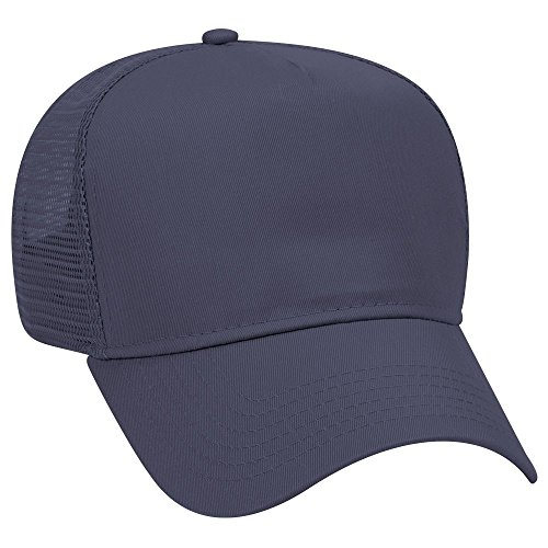 Product of Ottocap Cotton Blend Twill Five Panel Pro Style Mesh Back Trucker Hat -Navy [Wholesale Price on Bulk] Pro Style Twill Visor