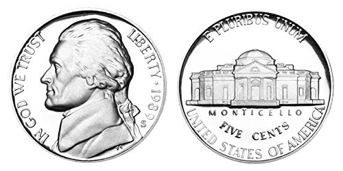 1989 S Proof Jefferson Nickel PF1
