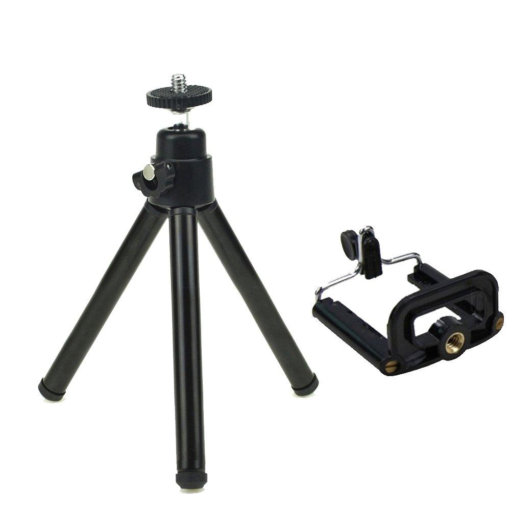 ミニ8インチ高パフォーマンスアルミデジタルSLRカメラ携帯電話三脚システムと流体ヘッド   B0776QT312