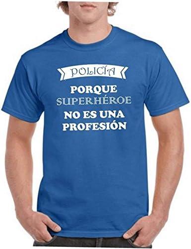 Camisetas divertidas Parent Policia Porque Superheroe No ES Una profesion - para Hombre Camiseta: Amazon.es: Ropa y accesorios