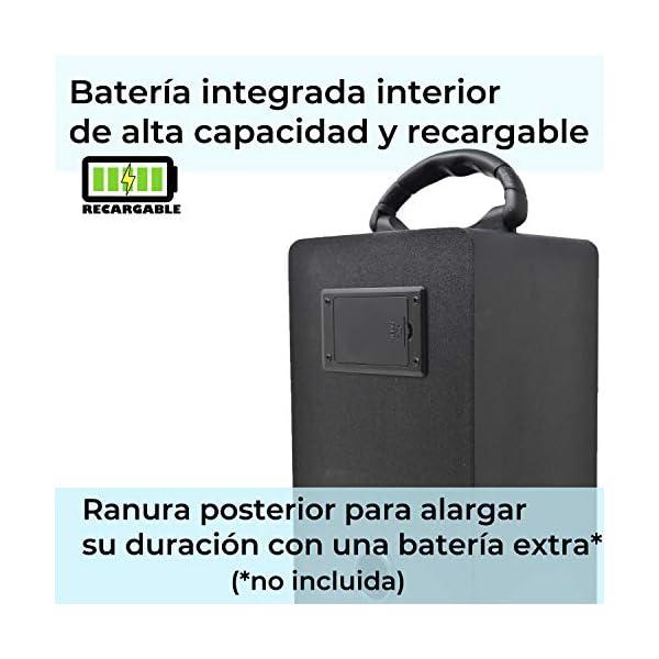 DYNASONIC Enceinte Bluetooth Karaoké Portable série 025 Noir Radio FM, Connexion Bluetooth 2.1, Lecteur SD USB et Microphone 2
