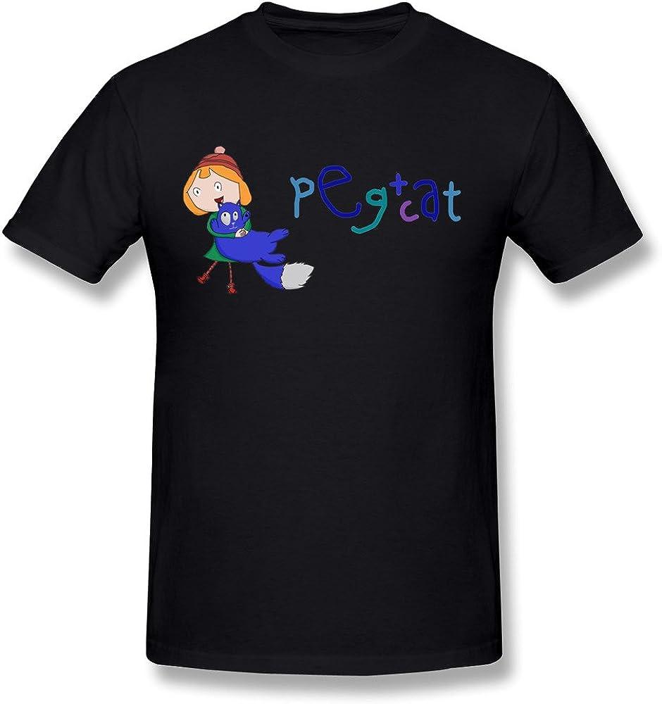 Kazzar Men's Peg and Cat Fan Art T Shirt