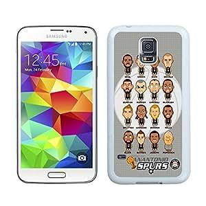 Unique Custom Designed Cover Case For Samsung Galaxy S5 I9600 G900a G900v G900p G900t G900w With san antonio spurs 2 White Phone Case