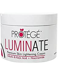 LUMINATE Skin Lightening Cream - Natural Skin Lightener Reduces Dark Spots and Age Spots + Uneven Skin Tone + Hyperpigmentation with Arbutin + Kojic Acid + Niacinamide (2oz)