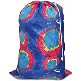 "Tie-dyed Laundry Bag Blue, 24"" x34"""