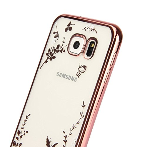 Blingmeister® iPhone 6 6s StrassCase - Golden Butterfly