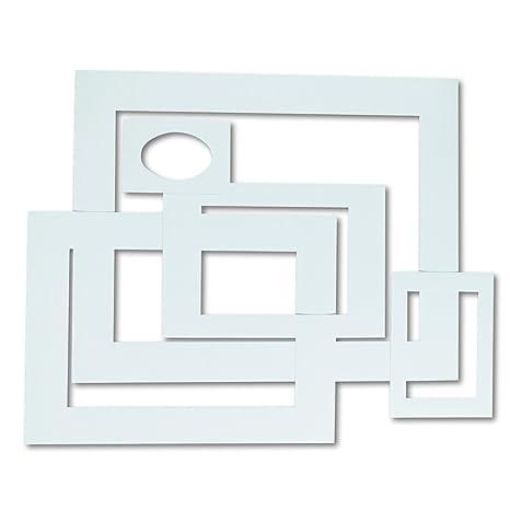 Amazon.com: Pacon 72500 Pre-Cut Mat Frames for Photo/Art, 12 Mats/5 ...
