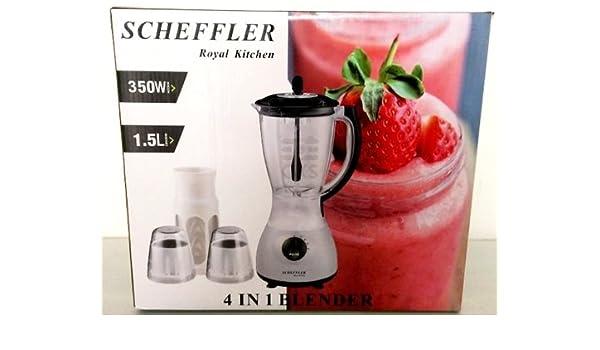 Scheffler Royal Kitchen Blender Licuadora 4 en 1 con 1,5 litros y ...